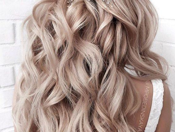 Half up half down wedding hairstyles 17