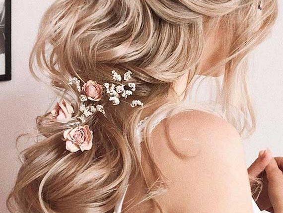 Half up half down wedding hairstyles 19