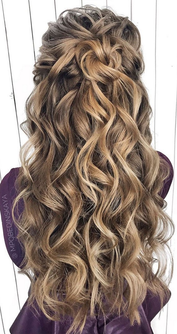 Half Up Half Down Wedding Hairstyles Roses Amp Rings