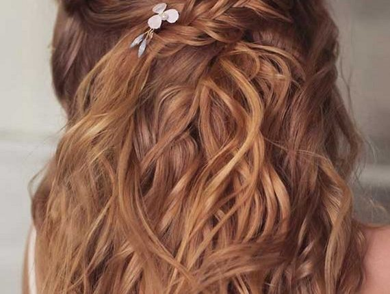 Half up half down wedding hairstyles 32