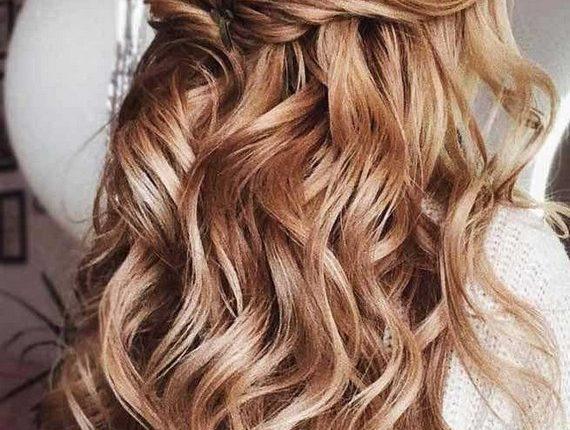 Half up half down wedding hairstyles 34
