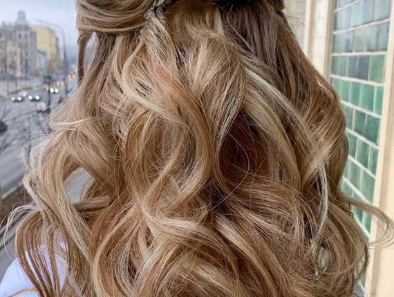 Half up half down wedding hairstyles 36