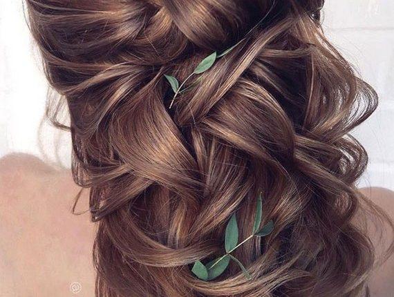Half up half down wedding hairstyles 4
