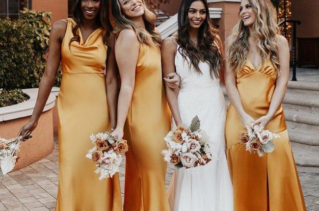 Silk Slip Bridesmaid Dresses 1