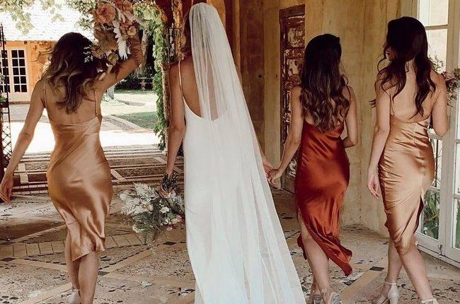 Silk Slip Bridesmaid Dresses 11