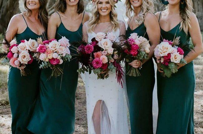 Silk Slip Bridesmaid Dresses 17