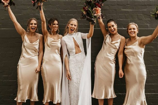Silk Slip Bridesmaid Dresses 19
