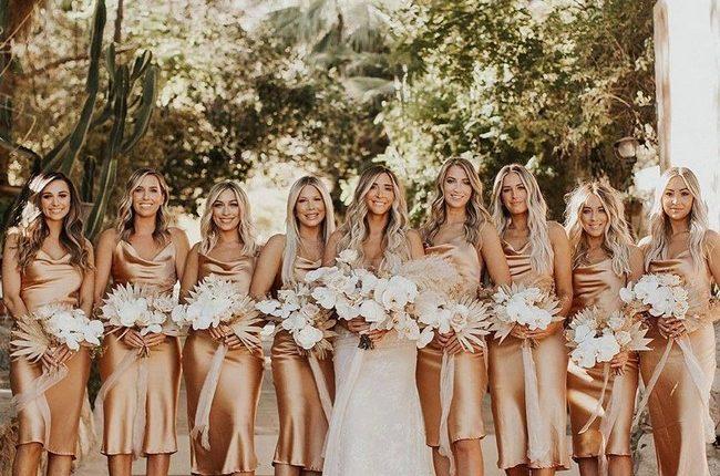 Silk Slip Bridesmaid Dresses 25