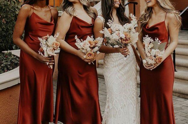 Silk Slip Bridesmaid Dresses 4