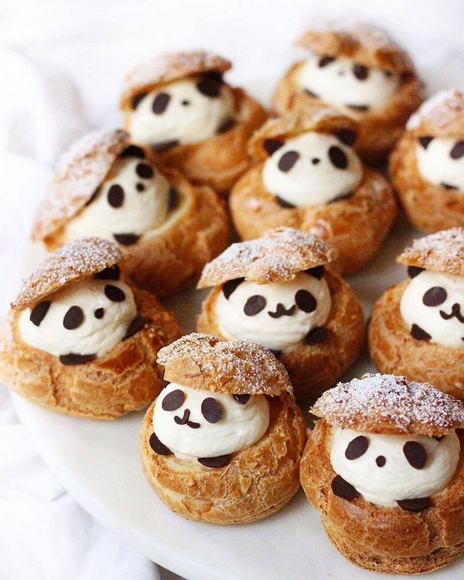panda choux cream puffs
