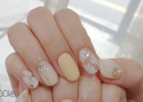 100pro Spring Summer Pastel Neutral Nail Art Designs 65