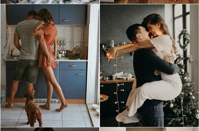 At-Home Engagement Photo Ideas