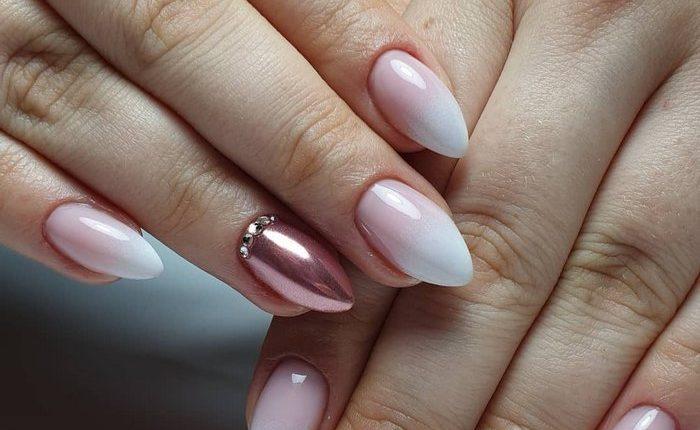 Pink White Nail Art Design Ideas 5