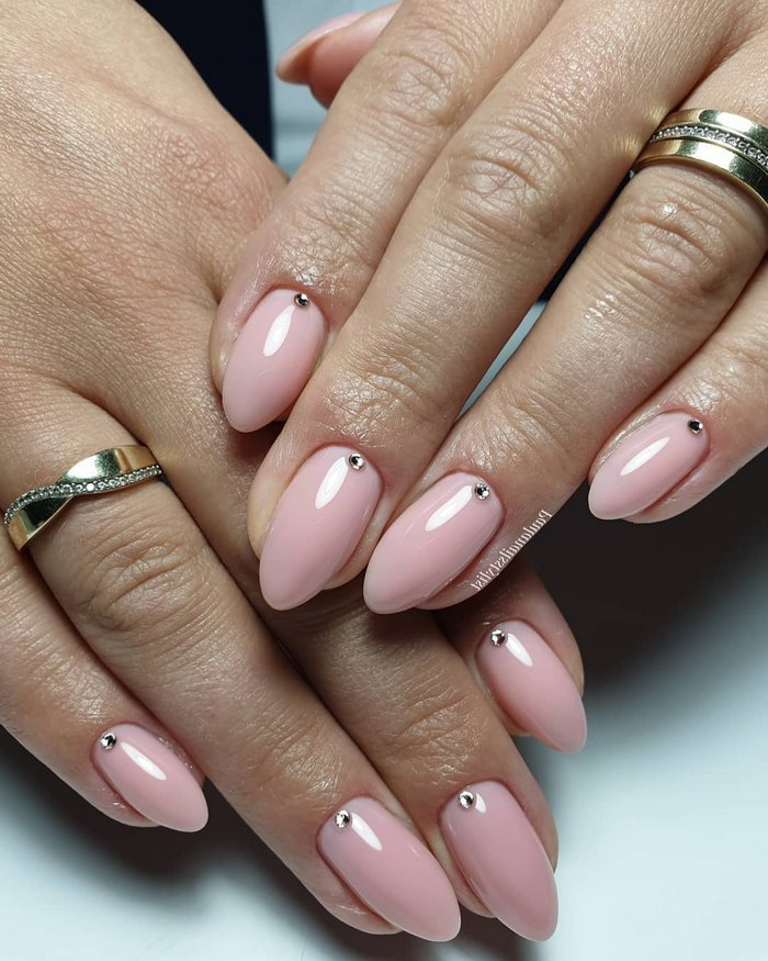 Pink White Wedding Nail Art Design Ideas #wedding #nails #weddingideas #weddingnails