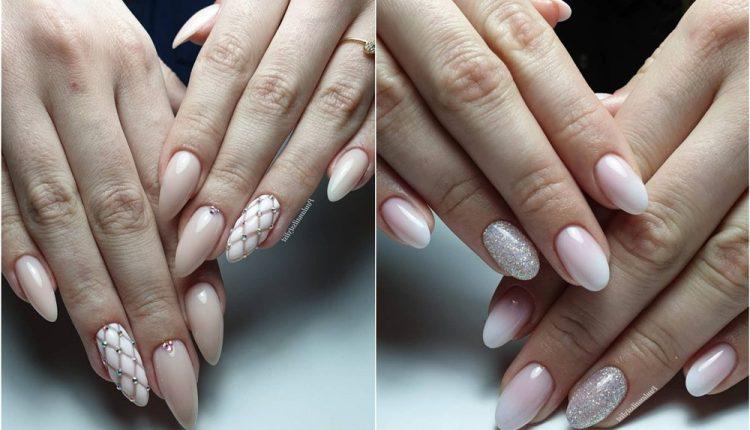 Pink White Nail Art Design Ideas