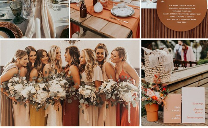 Bohemian rust dusty orange wedding color ideas 10