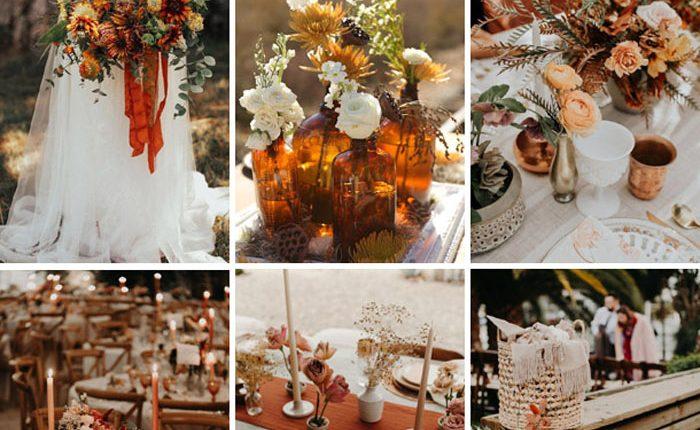 Bohemian rust dusty orange wedding color ideas 11