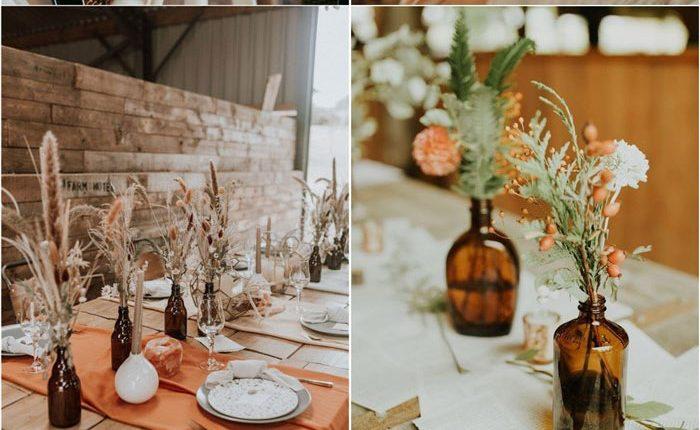 Bohemian rust dusty orange wedding color ideas 3