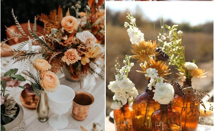 Bohemian rust dusty orange wedding color ideas 4
