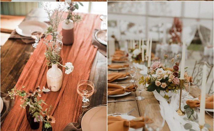 Bohemian rust dusty orange wedding color ideas #rustwedding #fallwedding #weddingcolors #weddingideas #dustyorange