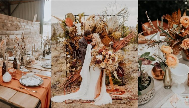 rust dusty orange wedding color ideas