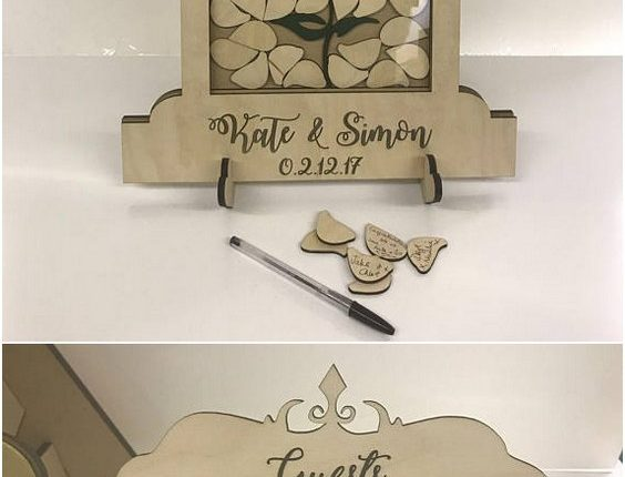 Beauty and the Beast themed Wedding drop box alternative guest book