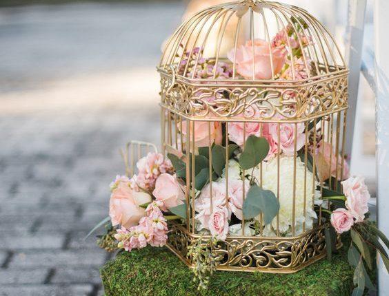 Birdcage florals for chair decor