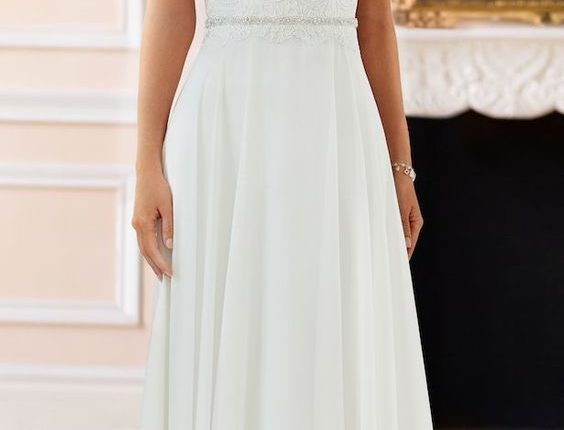 Cap Sleeves Wedding Dress by Stella York Spring 2017