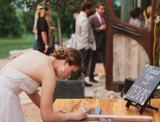DIY Texas wedding guestbook