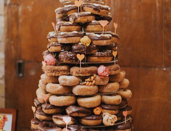 Donut tower as wedding cake alternative