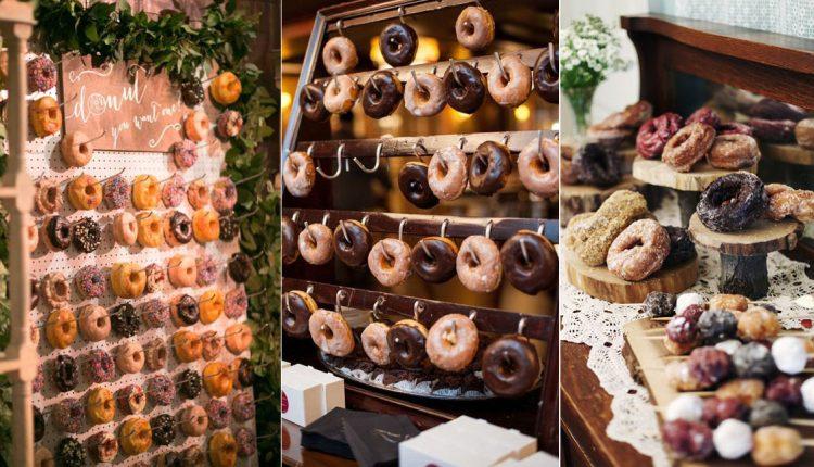 Doughnut wedding cake dessert
