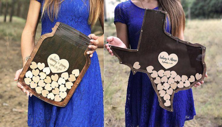 Drop Wedding Guest Book Box