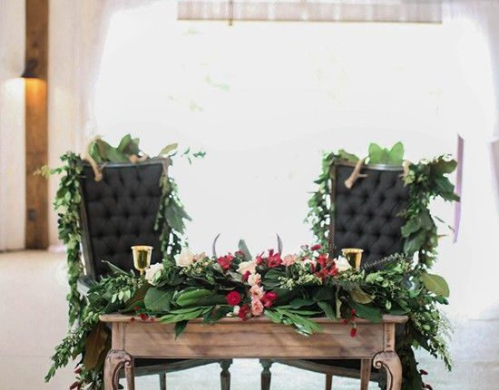 Floral sweet heat table