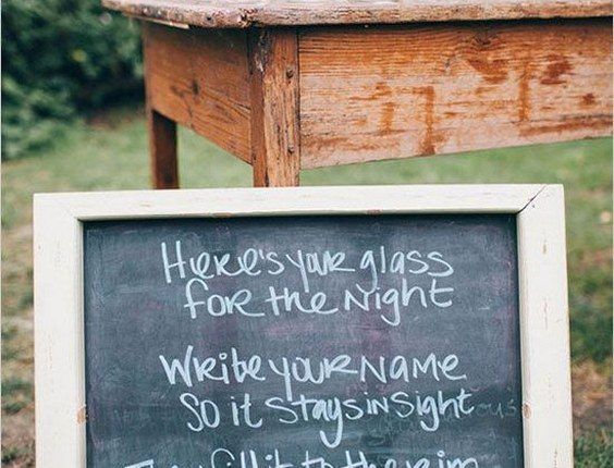I DO BBQ wedding reception sign and favors