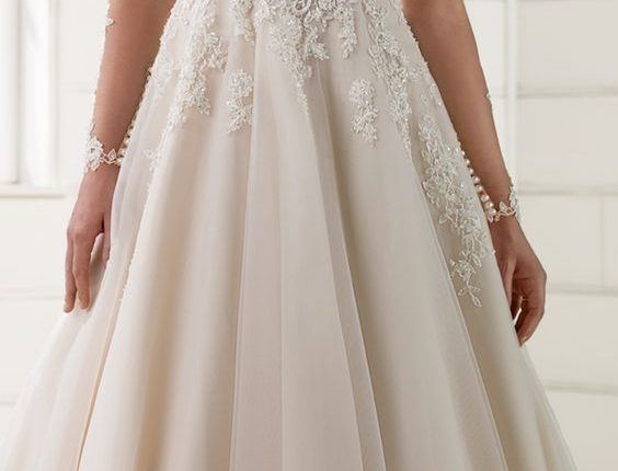 Long Sleeves Wedding Dress by Essense of Australia