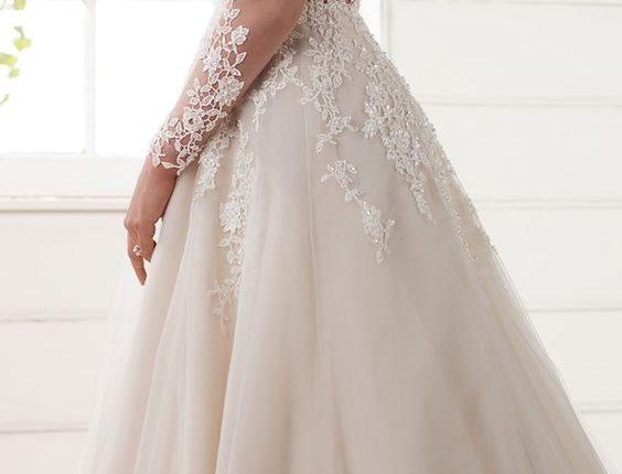 Long Sleeves Wedding Dress by Essense of Australia Spring 2017