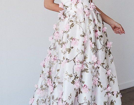 Lurelly bohemian wedding dress 3d-floral3