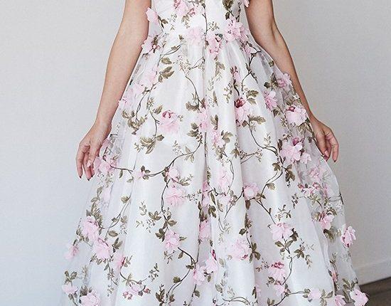 Lurelly bohemian wedding dress 3d-floral4
