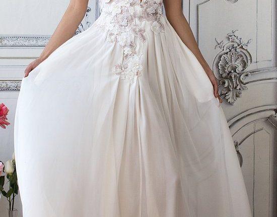 Lurelly bohemian wedding dress floral-embellished-silk