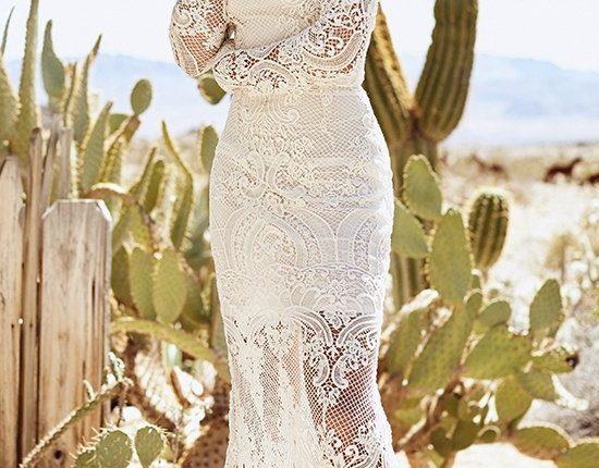 Lurelly bohemian wedding dress gardenia
