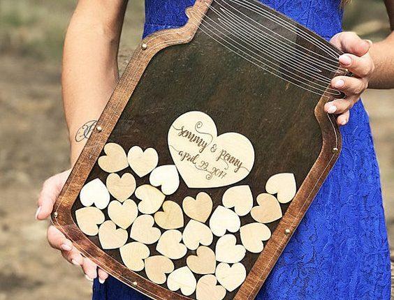 Mason Jar Drop Wedding Guest Book