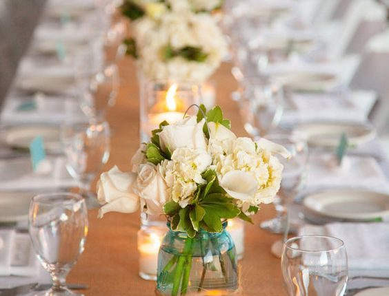 Natural Burlap Wedding Table Runner
