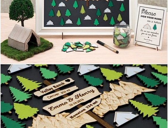 Nature, Forest, Hiking, Mountain Wedding Guest Book