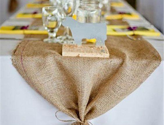 Rustic Burlap Wedding Table Ideas
