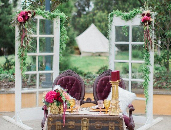 Rustic vintage sweetheart wedding table