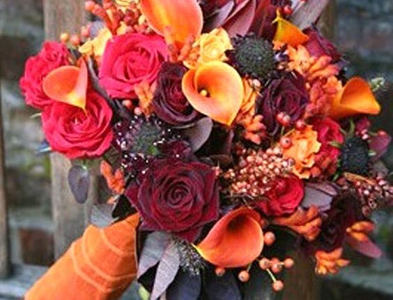 Small Fall Wedding Bouquets