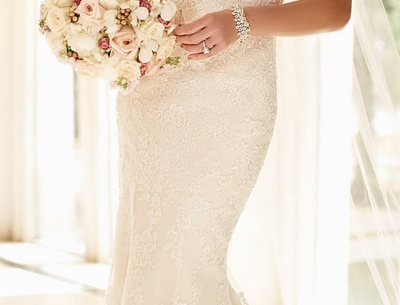 Stella York Spring cap sleeves wedding dress