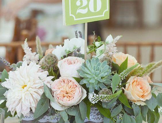 Succulent wedding centerpieces