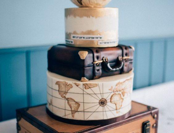 Travel Suitcase wedding decor idea
