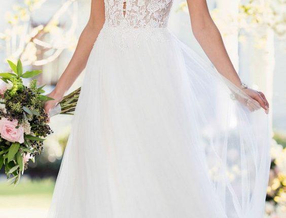 beach lace wedding dress from Stella York